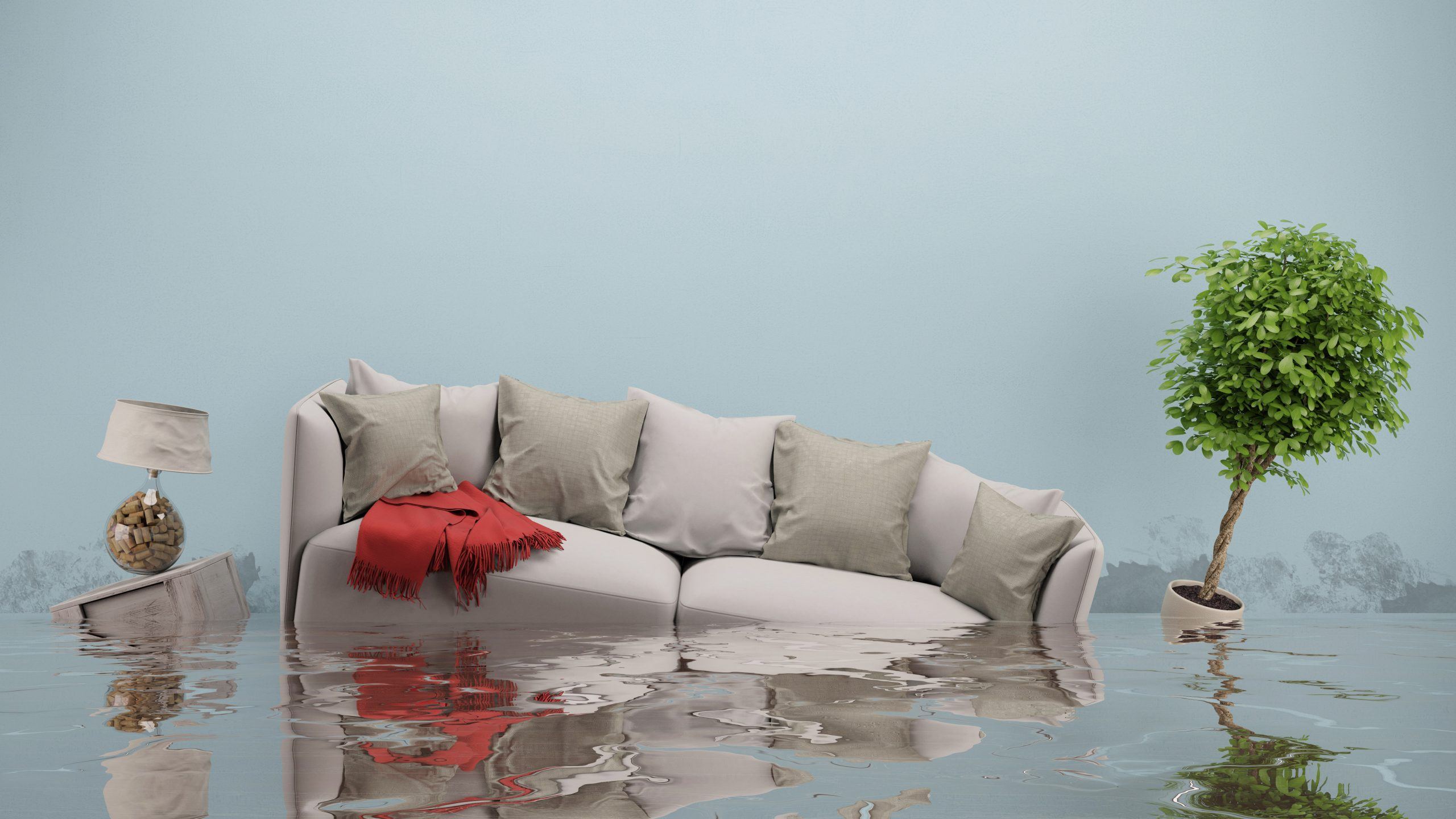 Prepare for floods, items in water